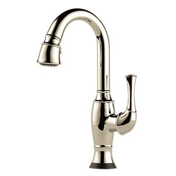 Brizo 64903LF-PN Talo Single Handle Pull Down Bar/Prep Faucet with SmartTouch Technology - Polished Nickel