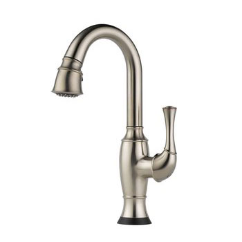Brizo 64903LF-SS Talo Single Handle Pull Down Bar/Prep Faucet with SmartTouch Technology - Stainless