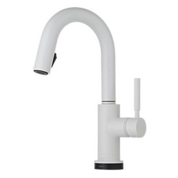 Brizo 64920LF-MW Solna Single Handle Single Hole Pulldown Bar/Prep Faucet - Matte White