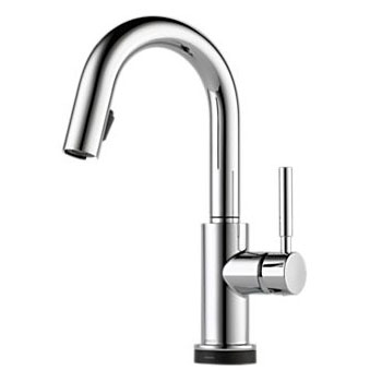 Brizo 64920LF-PC Solna Single Handle Single Hole Pulldown Bar/Prep Faucet - Chrome