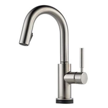 Brizo 64920LF-SS Solna Single Handle Single Hole Pulldown Bar/Prep Faucet - Stainless Steel