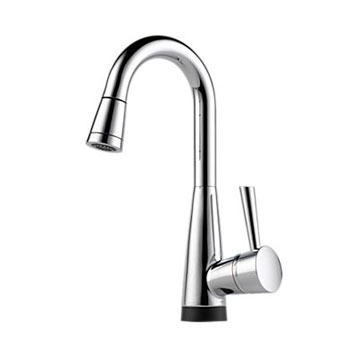 Brizo 64970LF-PC Venuto Single Handle Pull-Down  Bar/Prep Faucet with SmartTouch Technology - Chrome