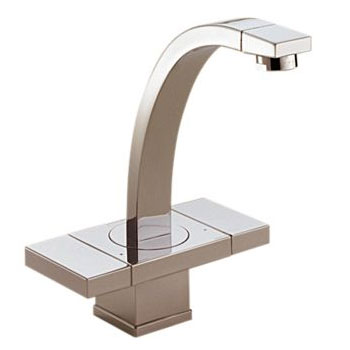 Brizo 65172LF-BN Loki Two Handle Single Hole Lavatory Faucet - Brushed Nickel