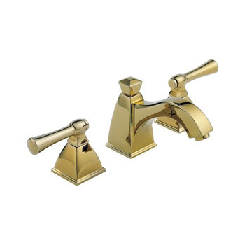 Brizo 65340LF-BB Vesi Curve Widespread Bathroom Sink Faucet - Brilliance Brass