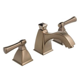 Brizo 65340LF-BZ Vesi Curve Widespread Bathroom Sink Faucet - Brushed Bronze