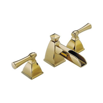Brizo 65345LF-BB Vesi Channel Widespread Lavatory Sink Faucet - Brilliance Brass
