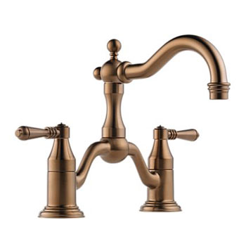 Brizo 65536LF-BZ Tresa Two Handle Widespread Bridge Lavatory Faucet - Brushed Bronze