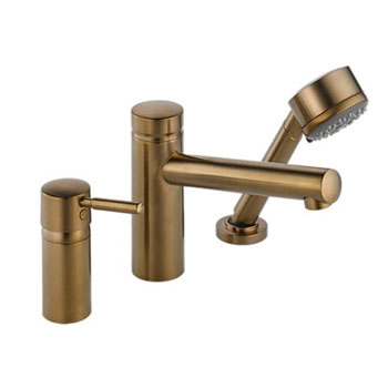 Brizo 67214-BZ Quiessence Roman Tub Faucet with Handshower Trim and Rough - Brushed Bronze