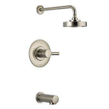 Brizo T60P420-BN Loki Pressure Balance Tub and Shower Trim - Brushed Nickel