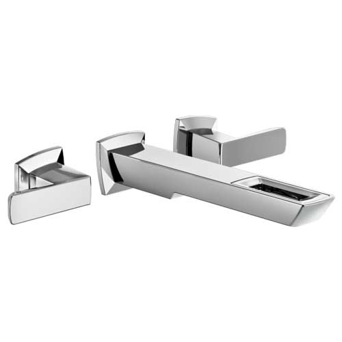 Brizo T65886LF-PC-ECO Vettis Two Handle Wall Mount Lavatory Faucet with Open Flow Spout - Chrome