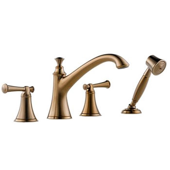 Brizo T67405-BZLHP Baliza Roman Tub Faucet with Hand Shower - Brushed Bronze