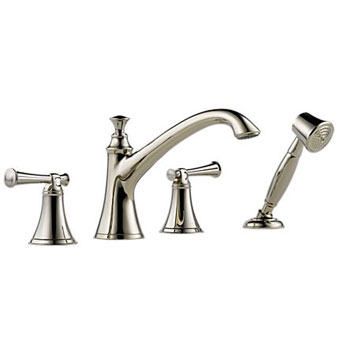 Brizo T67405-PNLHP Baliza Roman Tub Faucet with Hand Shower - Polished Nickel