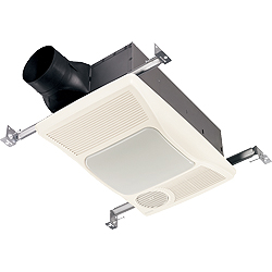 Broan 100HL Directionally Adjustable Bath Fan with Light and Heater