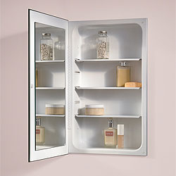 Broan 1035P24WHG NuTone Cove Single Door Recessed Mount Medicine Cabinets - White