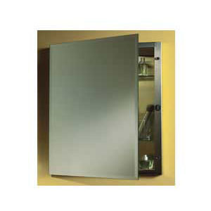 Broan 1447 NuTone Galena Specialty Single Door Recessed Mount Medicine Cabinet - Stainless Steel