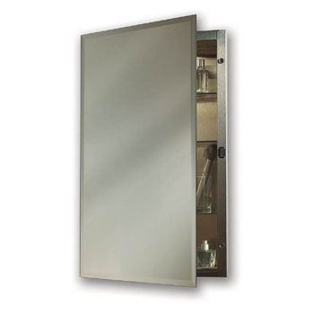 Broan 1448 NuTone Single Door Recessed Mount Medicine Cabinet - Stainless Steel