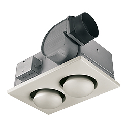 Broan 164 2 Bulb Heater Bath Fans With Light