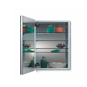 Broan 52WH244DPF NuTone Metro Deluxe 24'' Flat Mirror Medicine Cabinet - White