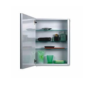 Broan 52WH244PF NuTone Metro Classic 24'' Flat Mirror Medicine Cabinet - White