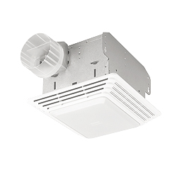 Broan 678 Bath Ventilation Fan and Light Combination - White