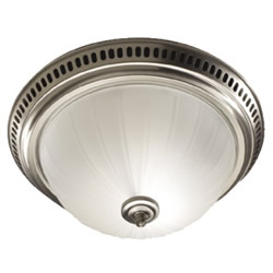 Broan 741SN Decorative Ventilation Fan and Light - Satin Nickel
