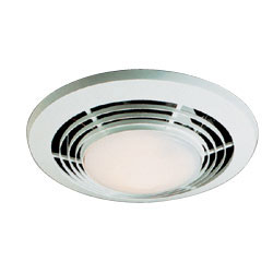 Broan 9093WH NuTone Deluxe Heat-A-Ventlite 70 CFM 1500-Watt Heater with Ventilator and Incandescent Ceiling Light - White