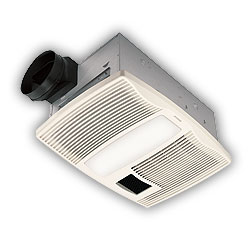 Broan QTX110HL Ultra Silent Bath Ventilation Fan and Heater with Light - White