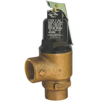 Cash Acme 13570-0150 3/4 inch  F82 Medium Capacity Pressure Relief Valve (150 PSI)