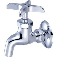 Central Brass 0007-1/2 Wall Mount Faucet Solid Flange - Chrome