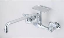 Central Brass 0048-UA3 Wall Mount Faucet 8-Inch Centers 12-Inch Spout - Chrome