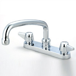 Central Brass 0125-A Two Handle Kitchen Faucet with 8