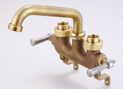 Central Brass 0470 Laundry Faucet w/Offset Legs For Wall Mount - Brass
