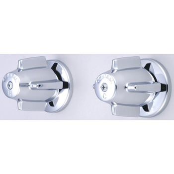 Central Brass 6056 Bath Valve Only Two-Valve/ 6-Inch Centers - Chrome