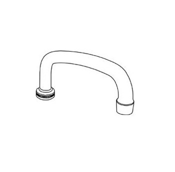 Central Brass SU-363-RA Spout 8-Inch Tube With Aerator Chrome Plated - Chrome