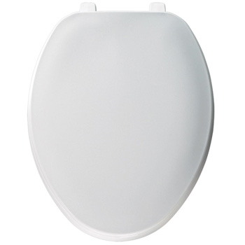 Church 170TL 000 Elongated Plastic Toilet Seat with Cover - White