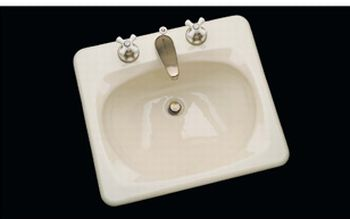 CECO Model 586 Rectangular Cast Iron Lavatory Sink 21