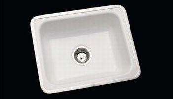 Ceco Model 720 I Flat Rim Cast Iron Sink 30 Quot X 18 Quot X 6 Quot White Faucetdepot Com