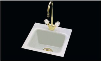 CECO Model 724-2 Hole Square-Corner Cast Iron Bar Sink 15