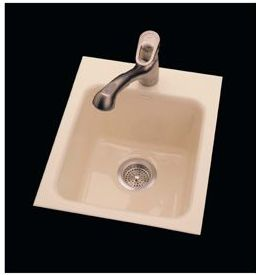 CECO Model 728-1 Hole Tile Edge Cast Iron Sink 16