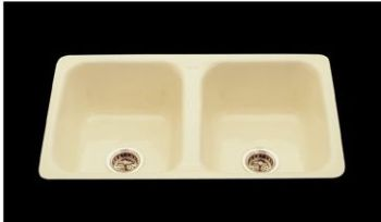 CECO Model 730-D Flat Rim Cast Iron Kitchen Sink 32