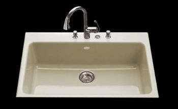 CECO Model 753 Drop-In Delray Cast Iron Kitchen Sink 33