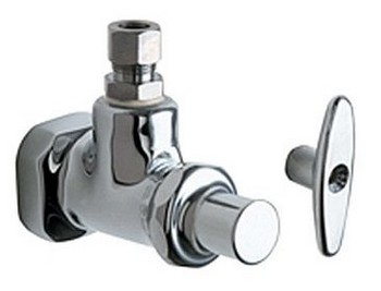 Chicago Faucets 1012-CP Angle Stop Fitting - Polished Chrome