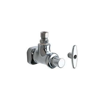 Chicago Faucets 1013 Abcp Angle Stop Fitting With Loose Key Chrome