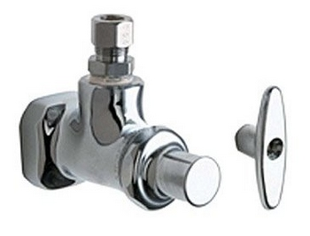 Chicago Faucets 1013-AB ECAST Angle Stop Fitting - Chrome