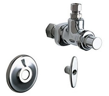 Chicago Faucets 1025-CP Angle Stop Fitting - Chrome