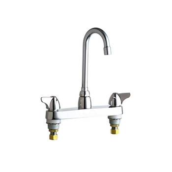 Chicago Faucets 1100-GN1AE3ABCP Hot and Cold Water Sink Faucet - Chrome