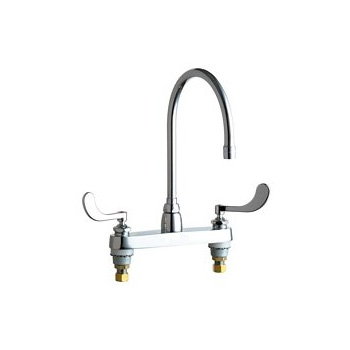 Chicago Faucets 1100-GN8AE3-317AB Commercial Grade High Arch Kitchen Faucet - Chrome