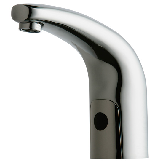 Chicago Faucets 116.202.AB.1 HyTronic Contemporary Sink Faucet with Dual Beam Infrared Sensor - Chrome