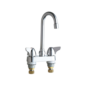 Chicago Faucets 1895 E35abcp Hot And Cold Water Sink