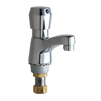 Chicago Faucets 333-665PSHABCP ECAST Deck Mount Lavatory Metering Faucet - Chrome